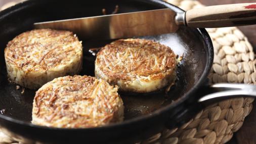 Restjes aardappel - Rösti