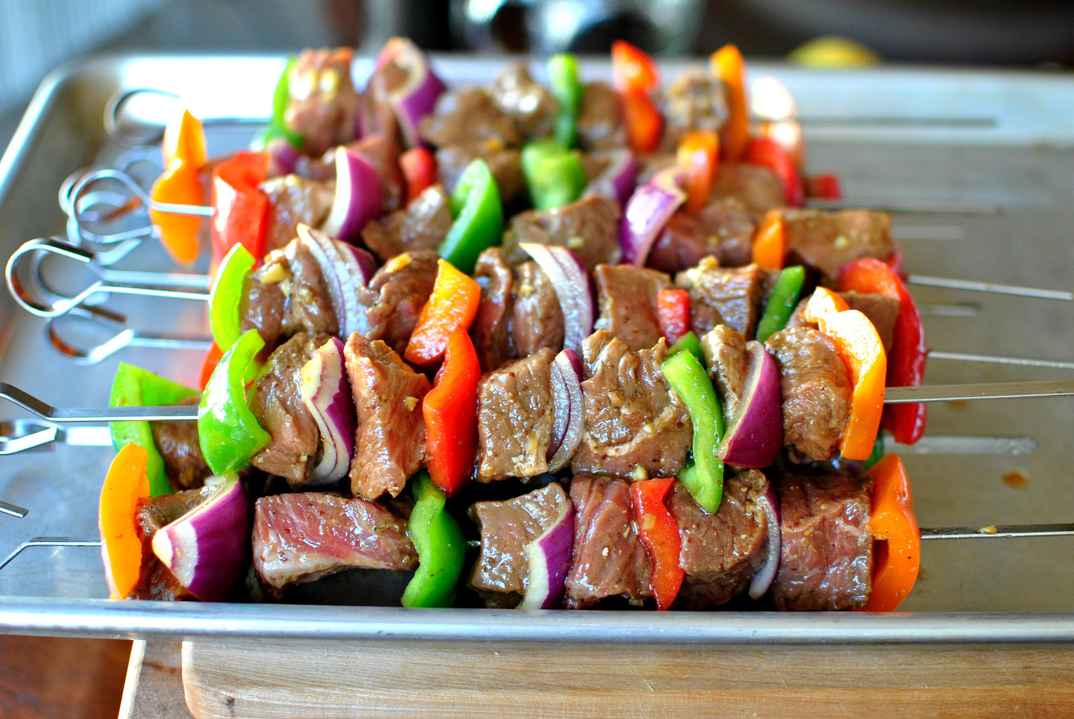 Restjes vlees verwerken - vleesspies