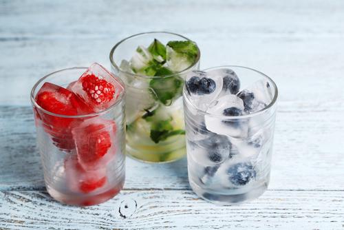 ingevroren fruit hapje voor baby