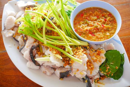 Visfilet gestoomd op Thaise wijze