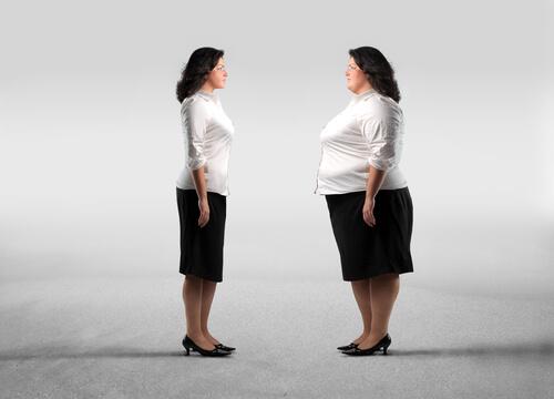 Vrouw op dieet tijdens de overgang