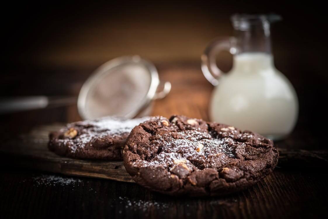 Chocolade koekjes met bananensmaak