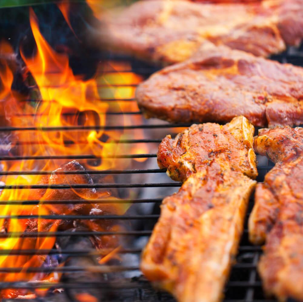 BBQ Barbecue Ingrediënten. Gemarineerde BBQ Vlees