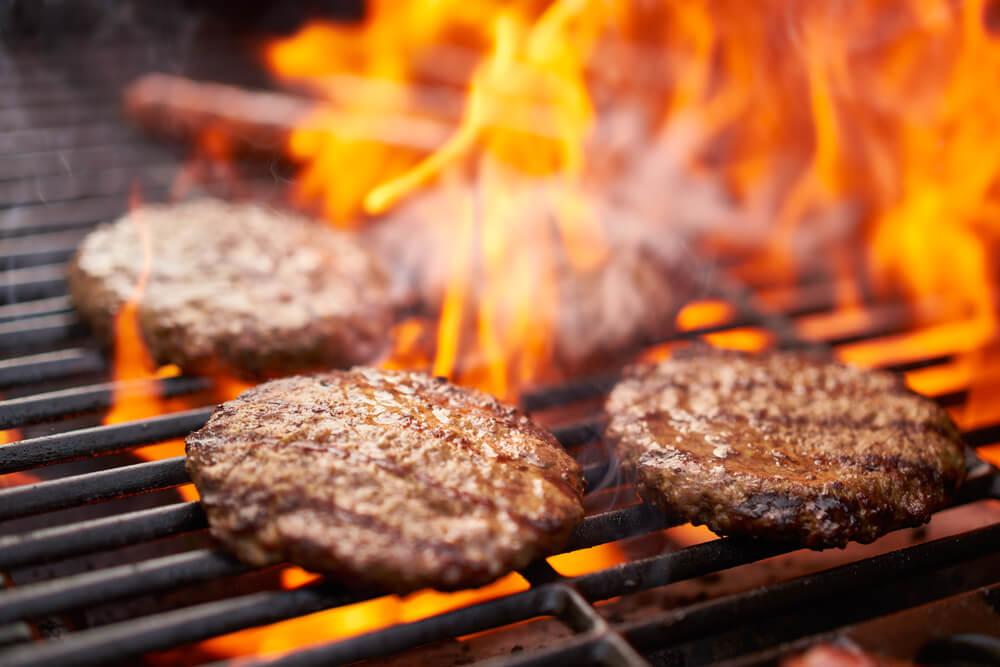 Hamburgers van de barbecue