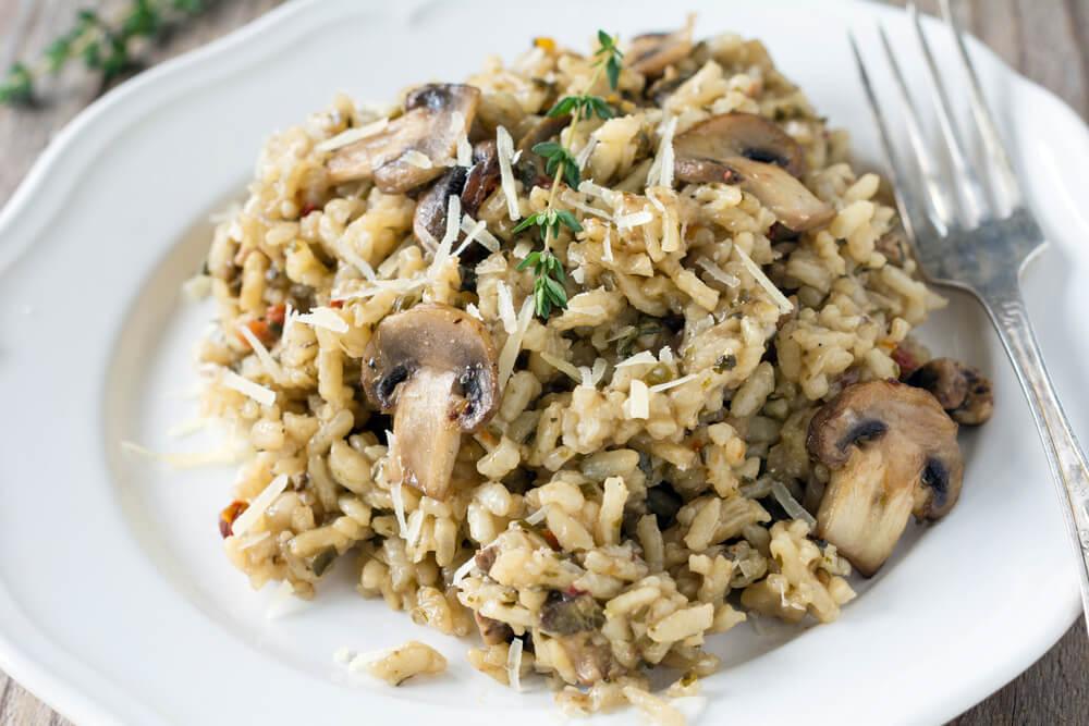 Champignons in risotto