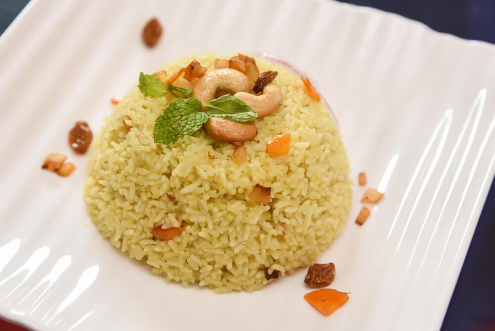 Rijst met noten